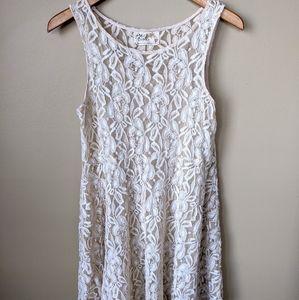 Free People Lace Cream Dress 👗